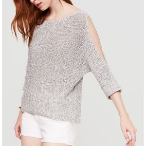 Loft Lou & Grey Cold Shoulder Sweater